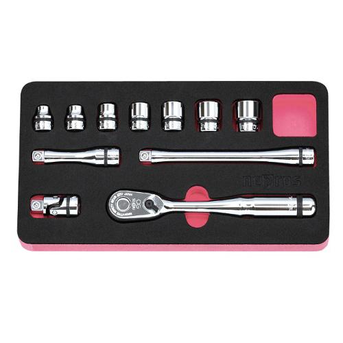 京都機械工具(KTC):ネプロス 9.5sq.ソケットレンチセット[11点] 型式:NTB311BA
