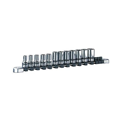 京都機械工具(KTC):ネプロス 9.5sq.セミディープソケットセット[12コ組] 型式:NTB3M12A