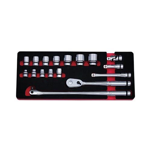 京都機械工具(KTC):ネプロス 12.7sq.ソケットレンチセット[17点] 型式:NTB417A
