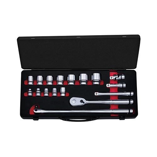 京都機械工具(KTC):ネプロス 12.7sq.ソケットレンチセット[17点](ケース付) 型式:NTB417AZ