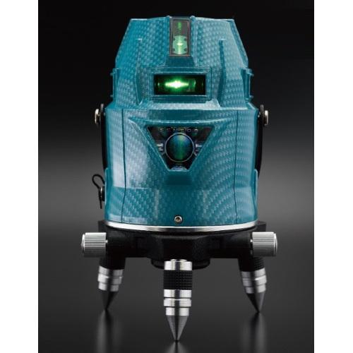 山真製鋸:高照度・センサーアクアグリーンレーザー墨出し器 フルライン・ドット照射 型式:LDR-9s
