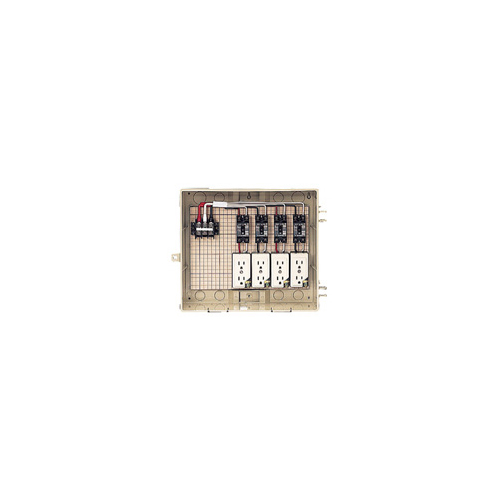 未来工業:屋外電力用仮設ボックス(漏電しゃ断器・分岐ブレーカ・コンセント内蔵) 型式:13-4CTB