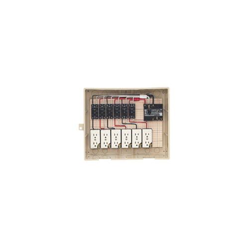 未来工業:屋外電力用仮設ボックス(漏電しゃ断器・分岐ブレーカ・コンセント内蔵) 型式:14-6C