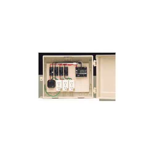 未来工業:屋外電力用仮設ボックス(漏電しゃ断器・分岐ブレーカ・コンセント内蔵) 型式:14-31HC
