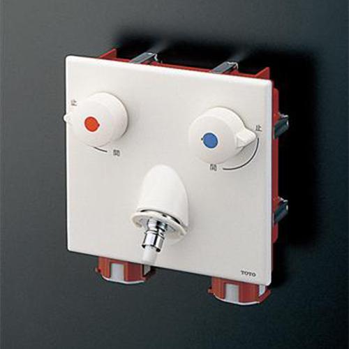 TOTO:洗濯機用壁付2ハンドル混合水栓(緊急止水) 型式:TWAS20A1ZA