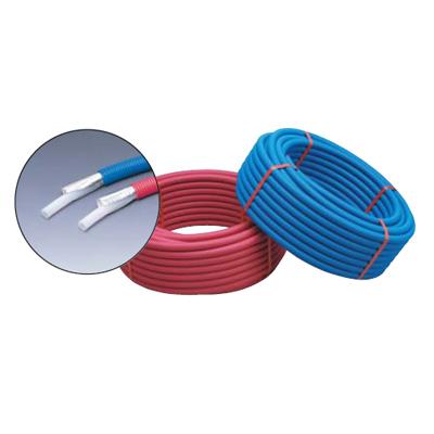 未来工業:ペックスフレキ(サヤ管ユニットタイプ) 給湯用(ピンク) 型式:LS2-2513-PT