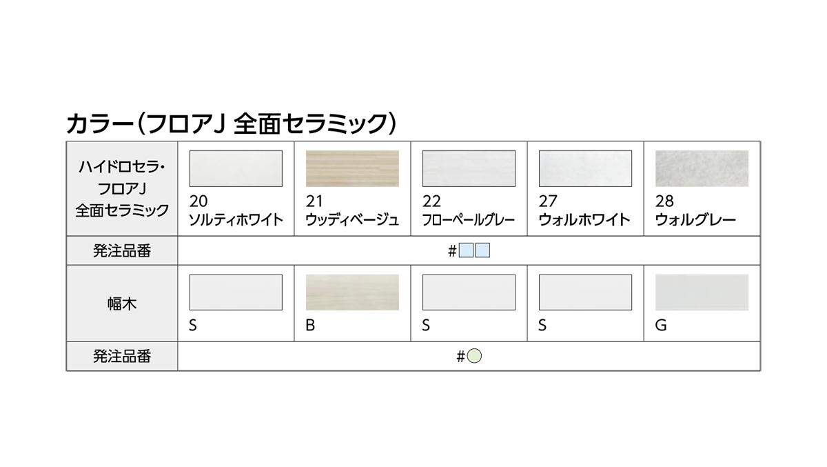 TOTO:フロアJ 全面セラミック 型式:AGF612#22