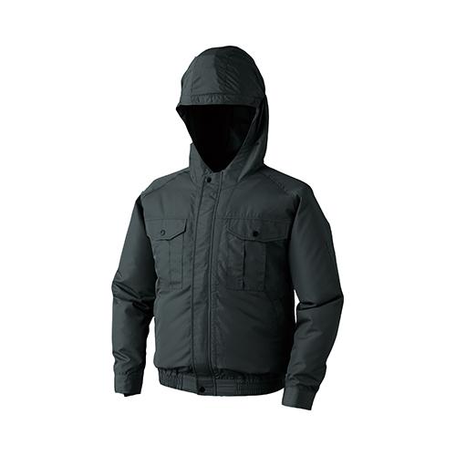 空調服:フード付ポリエステル製ワーク空調服(電池ボックスセット) 型式:0810B20C69S7