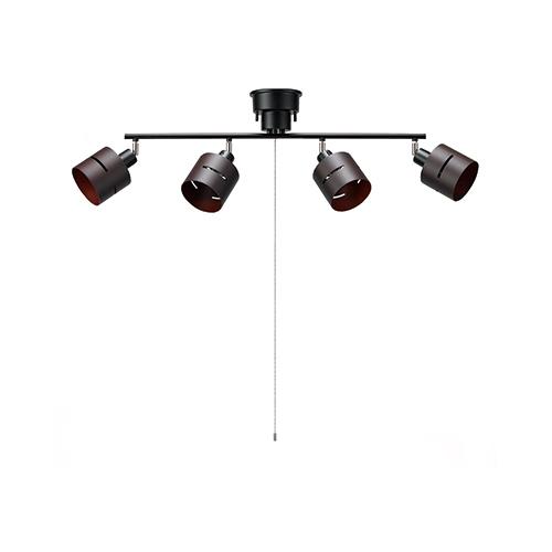 電設資材 返品不可 照明 シーリングライト ヤザワコーポレーション:4灯ウッドセードシーリング お金を節約 型式:CEX60X01DW