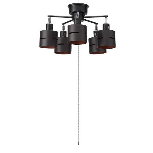 ヤザワコーポレーション:5灯ウッドセードシーリング 型式:CEX60X02DW
