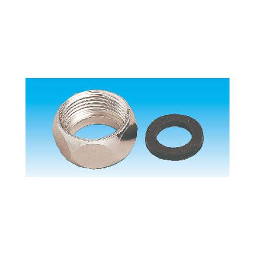 因幡電機産業:袋ナット・パッキンセット 型式:FN-15S(1セット:5個入)