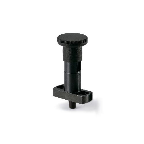 鍋屋バイテック:フランジつきインデックスプランジャ ロック機構つき 高精度テーパピンタイプ 型式:PPCY-8-26