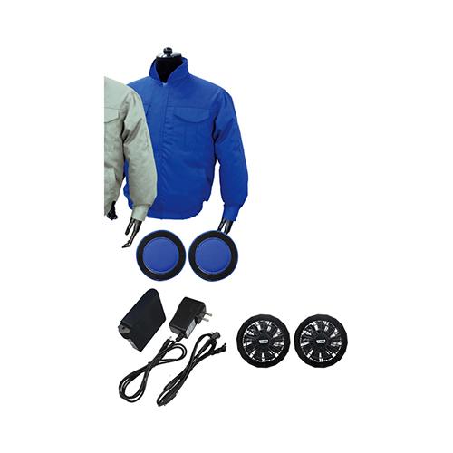 ブレイン:【綿ポリ混紡】空調エアコン[フルセット] ノーマルタイプ (ブルー/ファンBタイプ) 型式:BR-666-XL(ブルー)