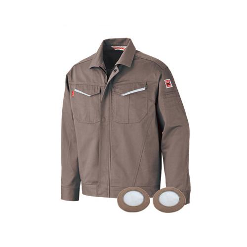 ブレイン:防炎空調エアコン服 (ステンレスメッシュカバー付)(グレー) ※服のみ 型式:BR-2000-L(グレー)