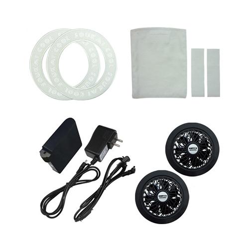 ブレイン:空調ウェア 自作キット ファンユニット・ワッペン(グレー)・ポケット・ループ ※ファンAタイプ 型式:BR-583-A(グレー)