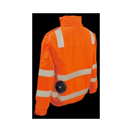 ブレイン:高視認性安全空調エアコン服(オレンジ) ※服のみ 型式:BR-12000-M(オレンジ)