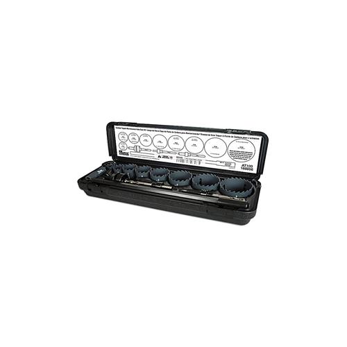 M.K.モールス:超硬チップ付ホールソー電気工キット8点(専用キャリーケース付) 型式:AT02E