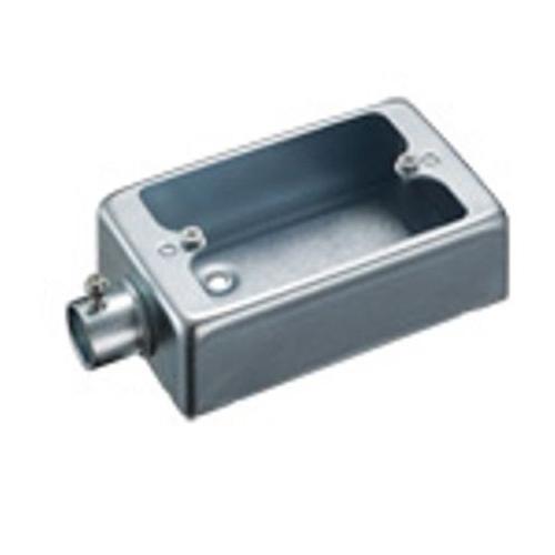 電設資材 ボックス 最新アイテム キャビネット DUMMY_ボックス 型式:DS70191K 1個用1方出 格安激安 パナソニック:ねじなし露出スイッチボックス