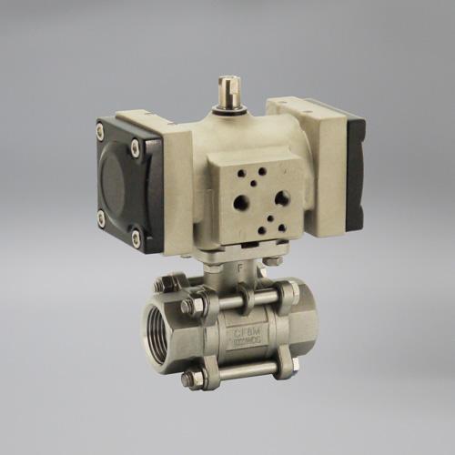 ケイヒン:MK2-FBシリーズ フランジ 水・油・空気用 (複動型空気圧操作式ボール弁) 型式:MK2-05DA-15FB