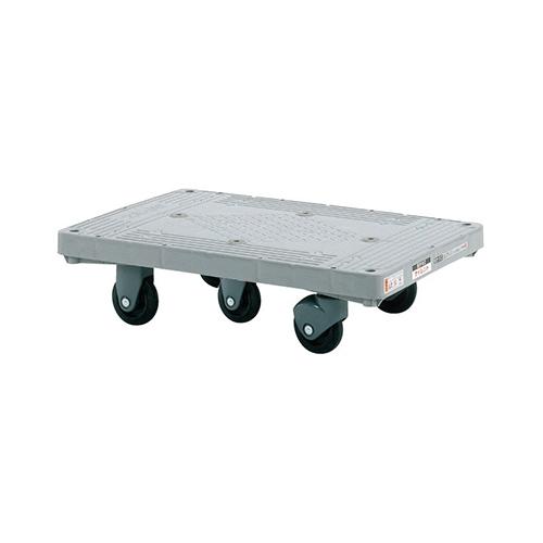 サカエ:樹脂平台車 サイレントキャスター 型式:LHT-50S