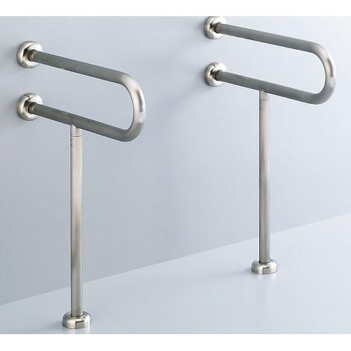 LIXIL(INAX):洗面器用手すり(壁床固定式)ステンレスタイプ 型式:KF-312S70