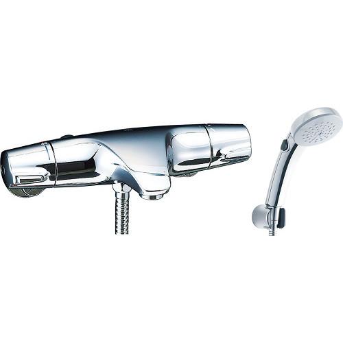 LIXIL(INAX):サーモスタット付シャワーバス水栓 エコフルスイッチシャワー(メッキ仕様) 型式:BF-J147TSCW