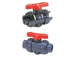 旭有機材工業:ボールバルブ 21α型(超純シリーズ) ボディ(U-PVC) 型式:V2ALVUVNJ0251