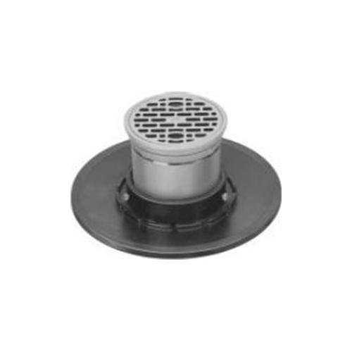 長谷川鋳工所:防水受つば付排水目皿 型式:COB-D(SU)-150-接続管付