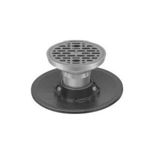 長谷川鋳工所:防水受つば付排水目皿 型式:COB-C(SU)-80-接続管付