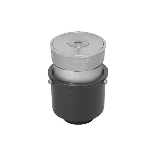 長谷川鋳工所:椀型鋳鉄製排水共栓 型式:T5A-SNFH(SU)-50-接続管付