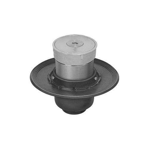 長谷川鋳工所:椀型鋳鉄製排水共栓 型式:T5B-SNFH(SU)-80-接続管付