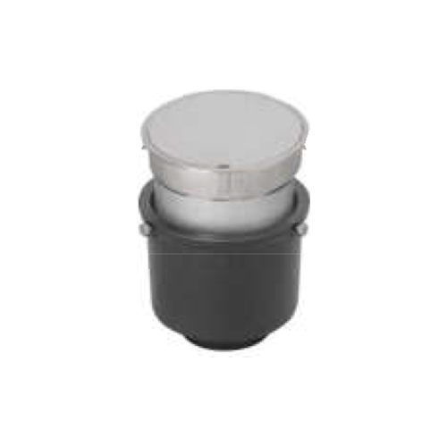 長谷川鋳工所:椀型鋳鉄製掃兼ドレン 型式:T5A-PCD(SU)-65-接続管付