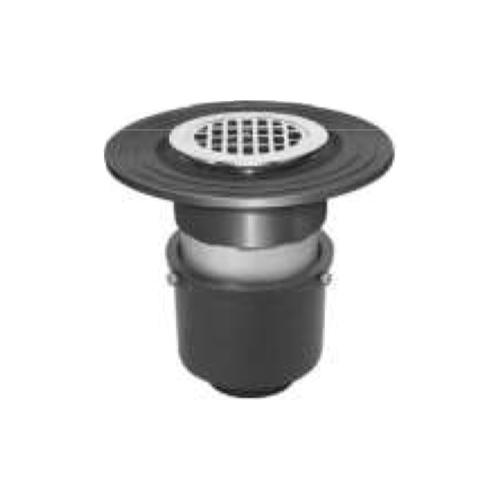 長谷川鋳工所:椀型鋳鉄製排水トラップ 型式:T5A-DBQ-FW付40-接続管なし