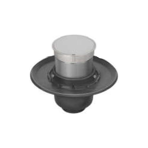 長谷川鋳工所:椀型鋳鉄製掃兼ドレン 型式:T5B-PCD(SU)-65-接続管付