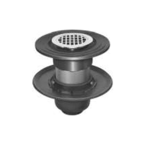 長谷川鋳工所:椀型鋳鉄製排水トラップ 型式:T5B-DBQ-FW付50-接続管付