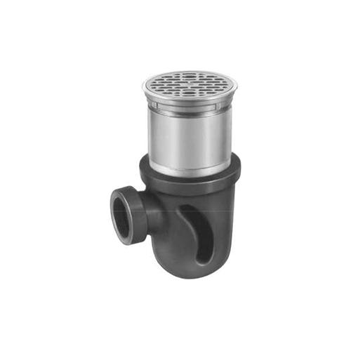 長谷川鋳工所:P型鋳鉄製排水トラップ 型式:T16-A(SU)-50-接続管付