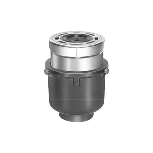 長谷川鋳工所:椀型洗濯機用鋳鉄製排水トラップ 型式:T5W-1A-50-接続管付