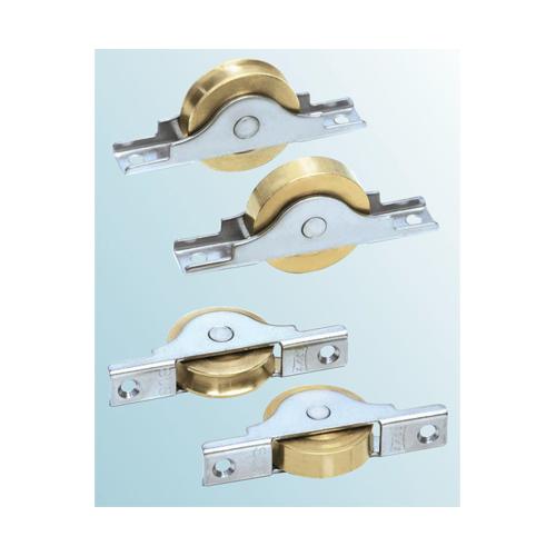ヨコヅナ:ベアリング入 真鍮戸車平型 型式:BTS-0502(1セット:4個入)