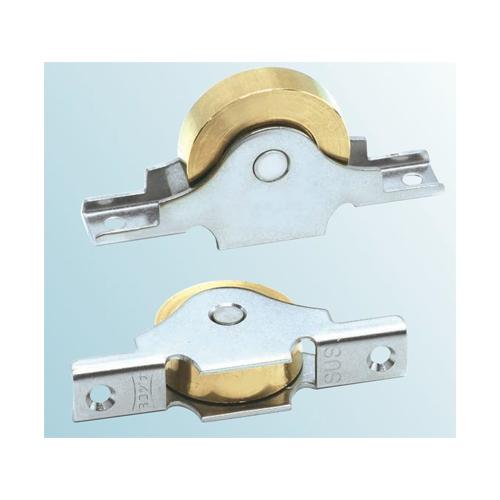 ヨコヅナ:ベアリング入真鍮戸車袖平型 型式:BTS-0753(1セット:2個入)