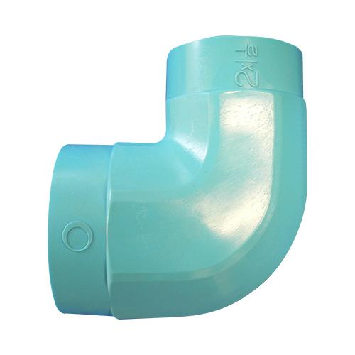 JFE継手:水道用管端防食継手(外面被覆)コア継手(埋没配管用) 径違いエルボ 型式:RL-4x3-CDコア