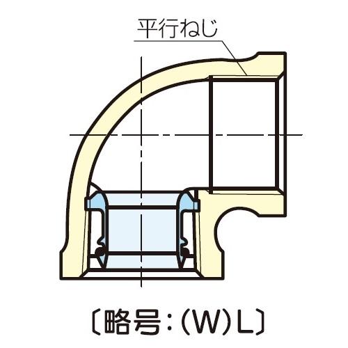 JFE継手:青銅コア継手(屋内配管用) 水栓エルボ (お買い得パック) 型式:(W)L-1/2(1セット:120個入)
