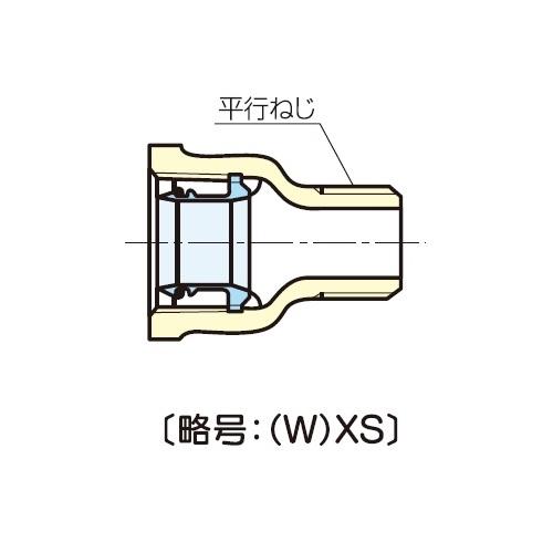 JFE継手:青銅コア継手(屋内配管用) アダプターチー (お買い得パック) 型式:AD-T(L)通り片側コアなし-3/4(1セット:30個入)