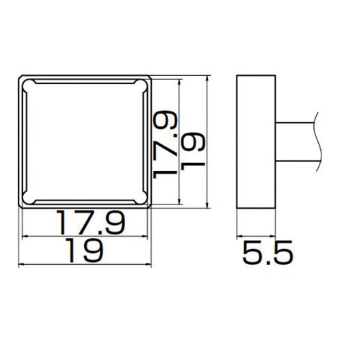 白光:こて先 PLCC17.9X17.9 型式:T12-1204