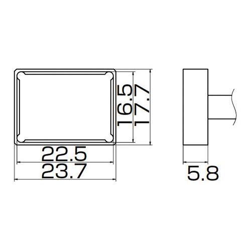 白光:こて先 PLCC22.5X16.5 型式:T12-1206