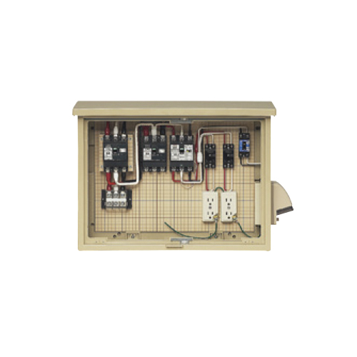 未来工業:屋外電力用仮設ボックス(主、中継回路・末端路用) 型式:16A-M2CV6TB