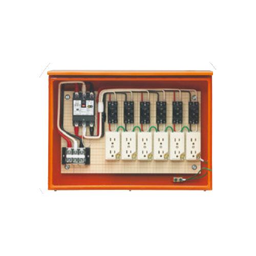 未来工業:屋外電力用仮設キャビネットボックス 型式:35AS-6C4TB