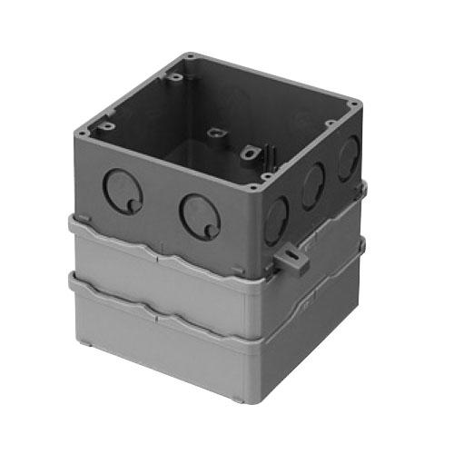 未来工業:大形四角PCボックス(塗代カバー無) 型式:4CBL-124AT(1セット:20個入)