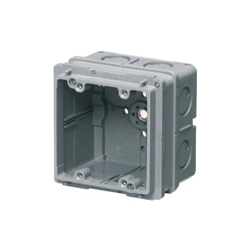 未来工業:埋込四角アウトレットボックス中極深形(2個用塗代カバー付) 型式:CDO-4C12P2M(1セット:20個入)