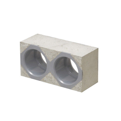 未来工業:カクフレキ用ブロックコネクタ 壁厚100mm用 型式:KFEKB-125-6