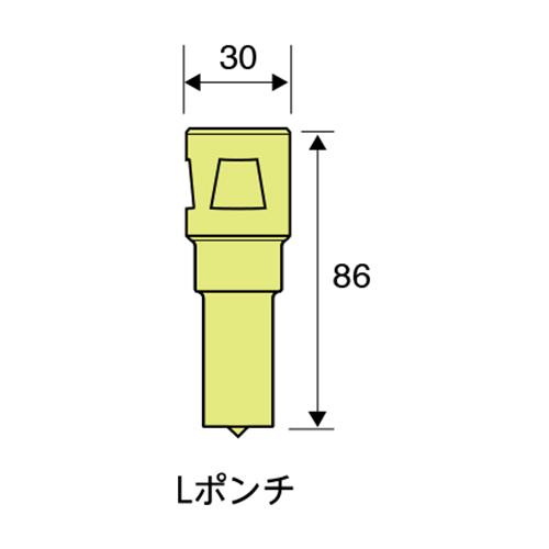 日東工器:ポンチ・ダイス 型式:LP15
